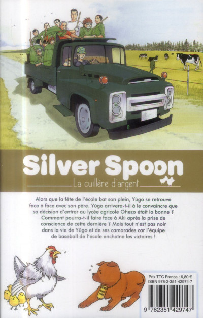 Dos Silver spoon - la cuillère d'argent tome 7