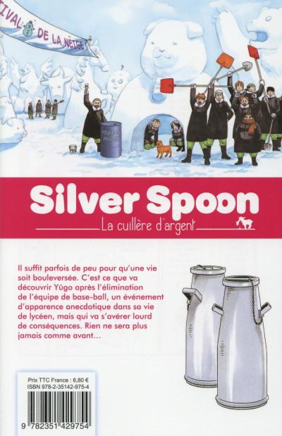 Dos Silver Spoon - la cuillère d'argent tome 8