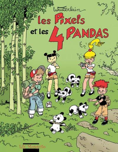 Couverture Les Pixels tome 4 - les Pixels et les 4 pandas