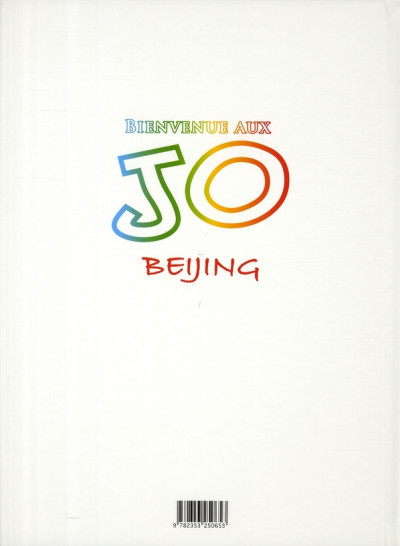 Dos bienvenue aux j.o. tome 1 - beijing