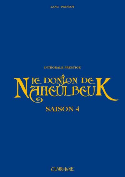 Couverture Donjon de Naheulbeuk intégrale prestige saison 4
