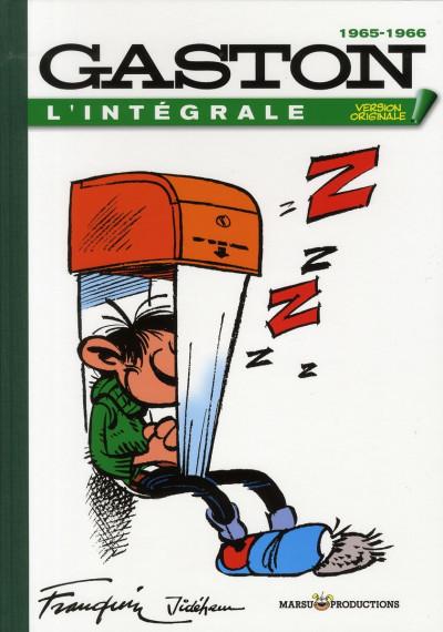 Couverture gaston - intégrale version originale tome 5 - 1965-1966