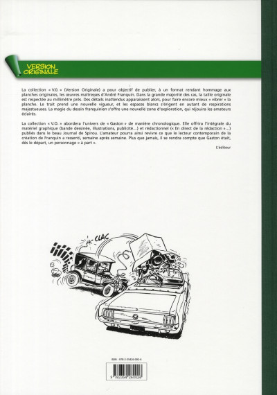 Dos gaston - intégrale version originale tome 5 - 1965-1966