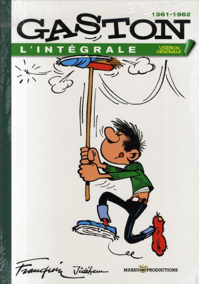 Couverture gaston - intégrale version originale tome 3 - 1961-1962