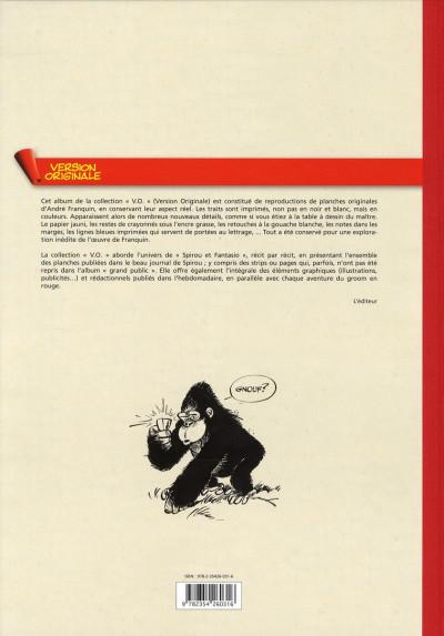 Dos Spirou et Fantasio - tirage de tête VO tome 3 - le gorille a bonne mine