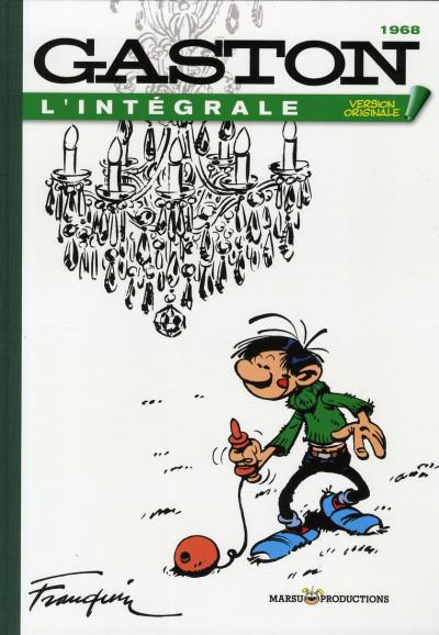 Couverture gaston - intégrale version originale tome 7 - 1968