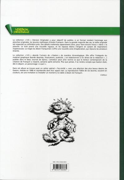 Dos gaston - intégrale version originale tome 7 - 1968