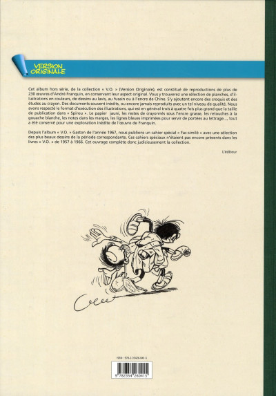Dos Gaston - intégrale version originale tome 8 - FAC SIMILE DE 1957 à 1966