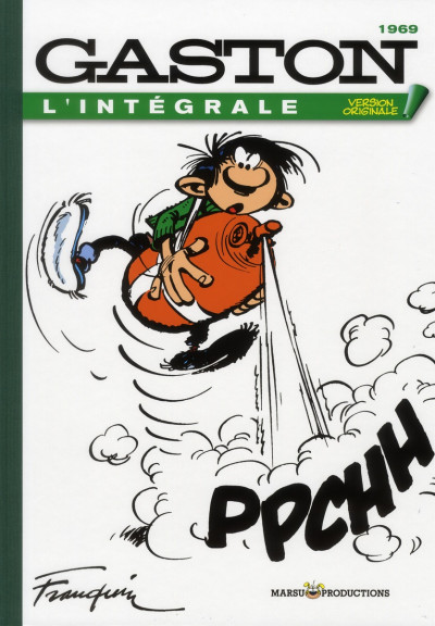 Couverture gaston - intégrale version originale tome 9 - 1969