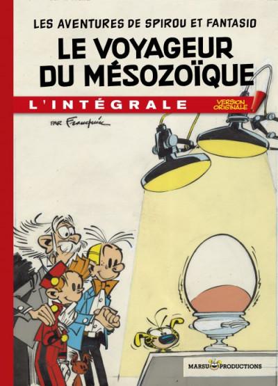Couverture Spirou et Fantasio - tirage de tête VO tome 4 - Le Voyageur du Mésozoïque