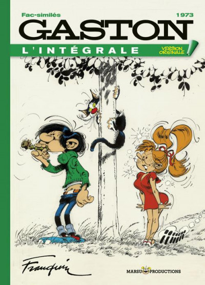 Couverture Gaston - intégrale version originale tome 13 - 1973