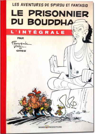 Couverture Spirou et Fantasio - tirage de tête VO tome 8 - le prisonnier de Bouddha