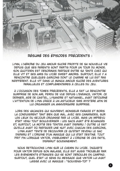 Page 3 l'amour sucré tome 3 - le masque des souvenirs