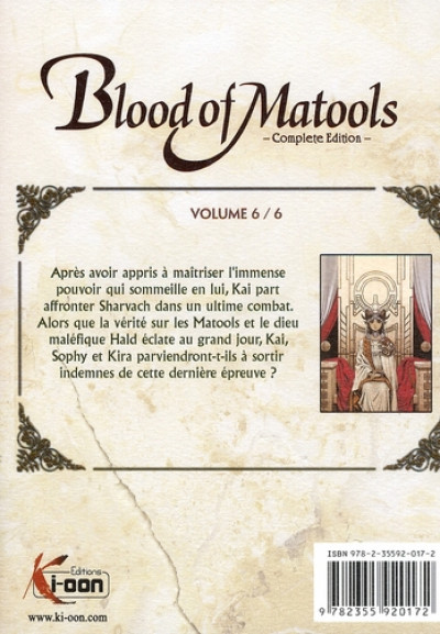 Dos blood of matools tome 6