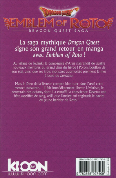 Dos dragon quest - emblem of Roto tome 6