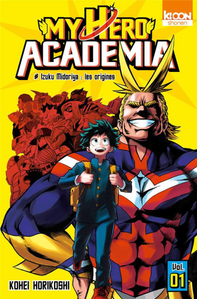 Couverture My hero academia tome 1