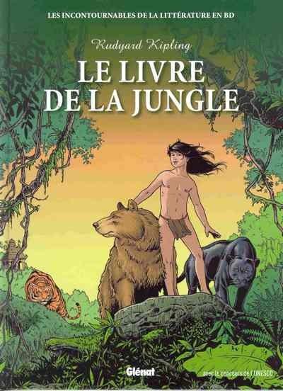 Couverture Incontournables de la littérature en BD (Les) tome 5 - Le Livre de la jungle (éd. 2010)