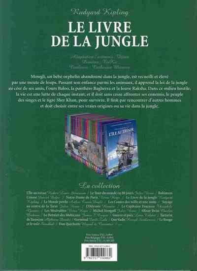 Dos Incontournables de la littérature en BD (Les) tome 5 - Le Livre de la jungle (éd. 2010)