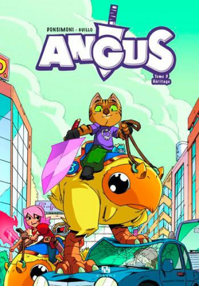 Couverture Angus tome 3 - héritage
