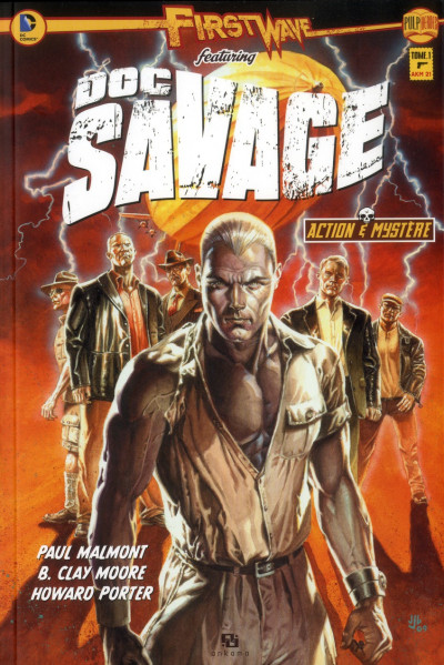 Couverture first wave - featuring Doc Savage tome 1