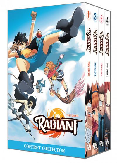 Couverture Fourreau Radiant tome 1 à tome 4 + Poster