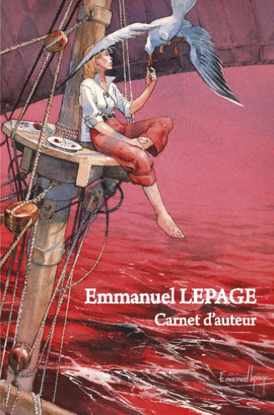 Couverture Carnet d'auteur Emmanuel Lepage - version limitée