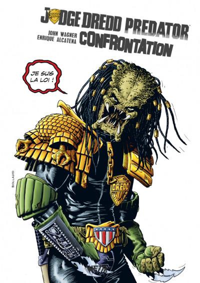 Couverture Judge Dredd / Predator - Confrontation - édition hardcore