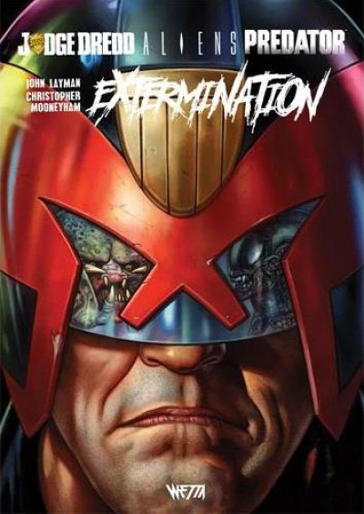 Couverture Aliens / Judge Dredd / Predator - Extermination (édition hardcore)