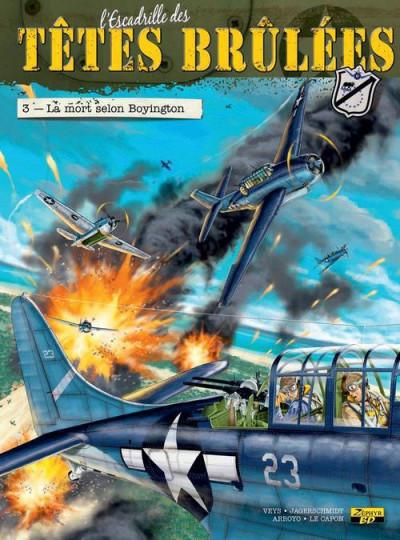 Couverture l'escadrille des Têtes Brûlées tome 3 - la mort selon Boyington