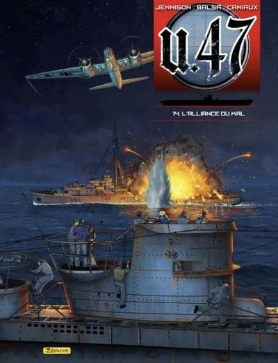 Couverture U-47 tome 14 - L'alliance du mal (doc + ex-libris)