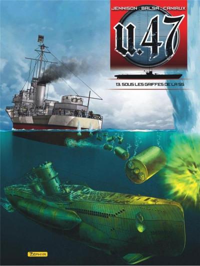 Couverture U-47 tome 13 - Sous les griffes de la SS + Doc + ex-libris