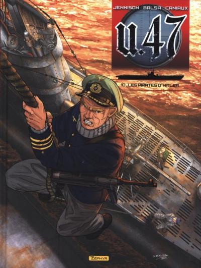 Couverture U-47 tome 10 - les pirates d'Hitler + doc + ex-libris