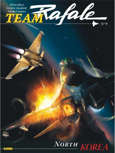 Couverture Team rafale tome 9 - North Corea (+ ex-libris)