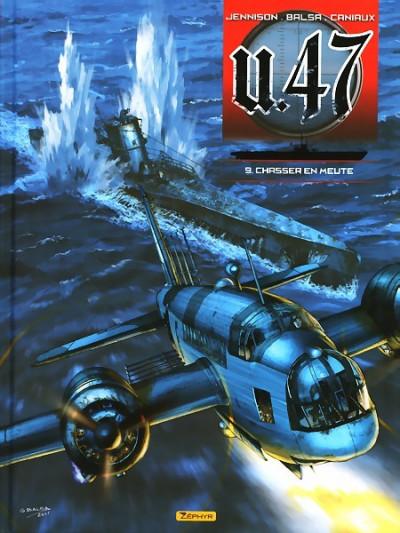 Couverture U-47 tome 9 - chasser en meute (BD+doc+ex-libris)