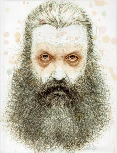 Couverture Alan Moore, une biographie illustrée