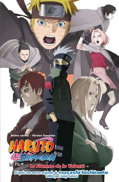 Couverture Naruto Shippuden - anime comics tome 3 - la flamme de la volonté