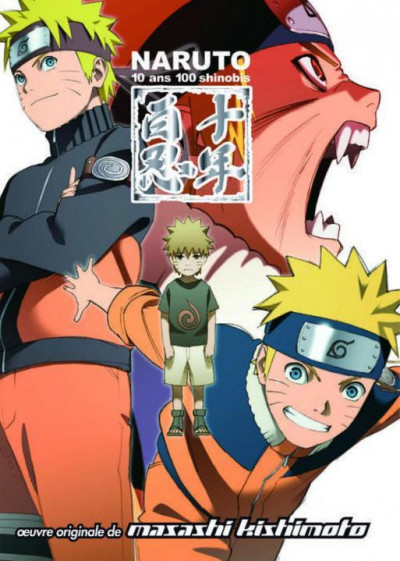 Couverture Naruto ; 10 ans 100 shinobis ; anime comics