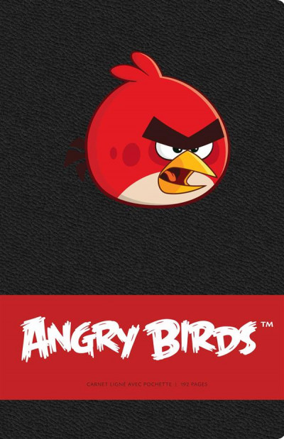 Couverture Angry birds - carnet Red