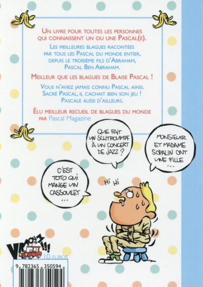 Dos Les bonnes blagues de Pascal