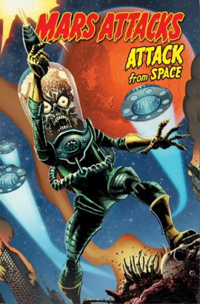 Couverture Mars attacks - attack from space