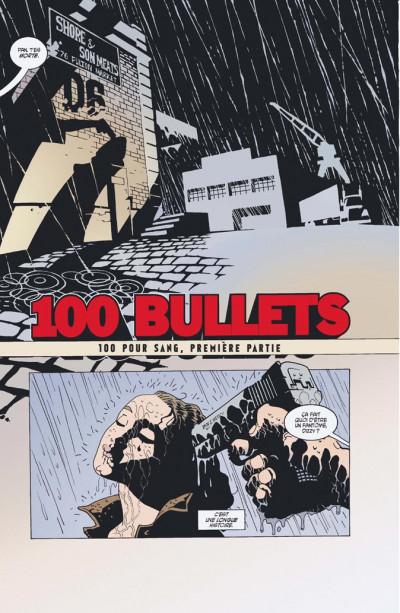 Page 1 100 bullets - cartonné tome 1