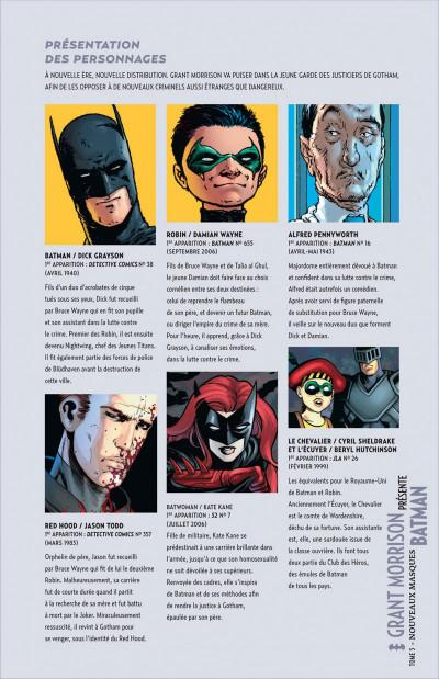Page 5 Grant Morrison présente Batman tome 3