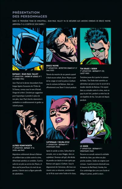 Page 1 Batman knightfall tome 3