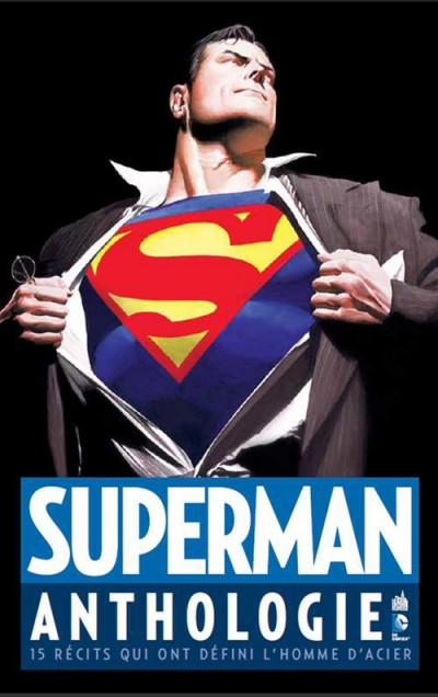 Couverture Superman anthologie ; 15 récits qui ont défini l'homme d'acier