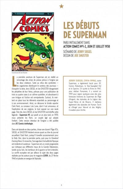 Page 1 Superman anthologie ; 15 récits qui ont défini l'homme d'acier