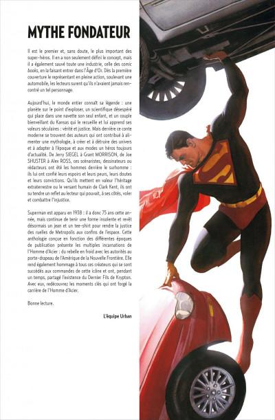Page 4 Superman anthologie ; 15 récits qui ont défini l'homme d'acier
