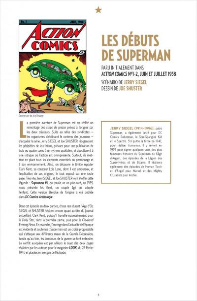 Page 8 Superman anthologie ; 15 récits qui ont défini l'homme d'acier