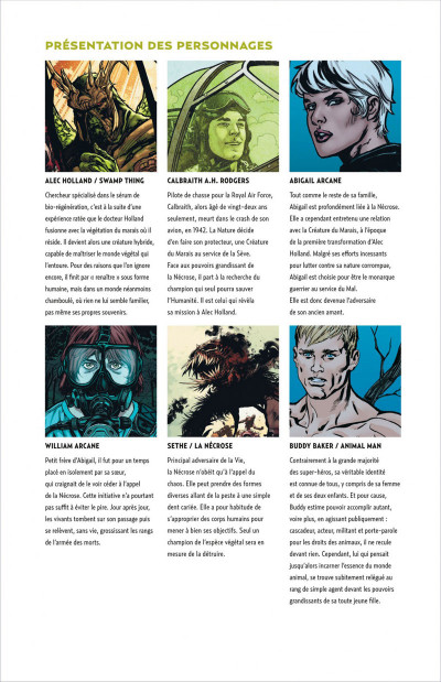 Page 5 Swamp Thing T.2 - liens et racines