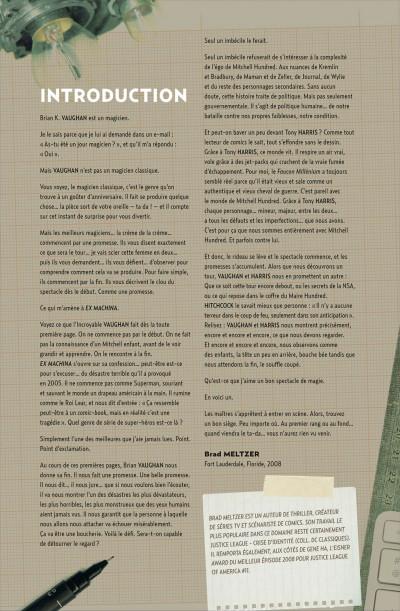Page 4 Ex machina tome 1