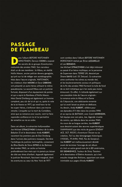 Page 5 before watchmen DC Deluxe - le Hibou